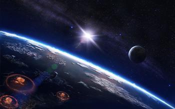 外太空看地球