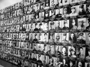 供奉于靖国神社的二战阵亡日本侵略军人照片
