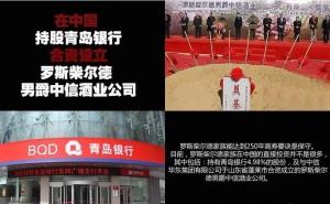 在中国持股青岛银行