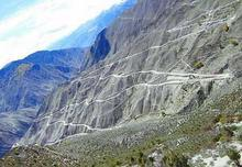 曲折的山路
