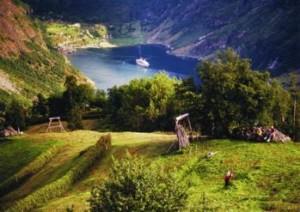 旅途中美丽的风景