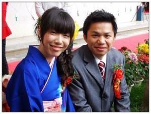 孙东纯与妻子幸福的笑脸