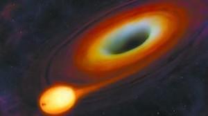吞噬恒星的黑洞