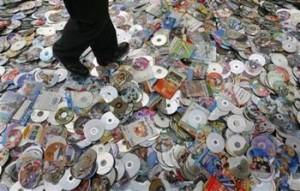 销毁盗版光盘