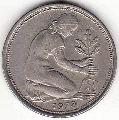 联邦德国货币50芬尼
