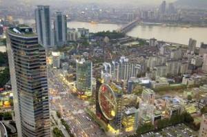 现代化的都市-首尔