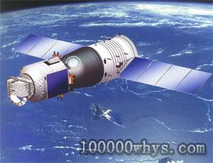 太空中的神舟号试验飞船