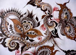 贵州民族风格的蜡染