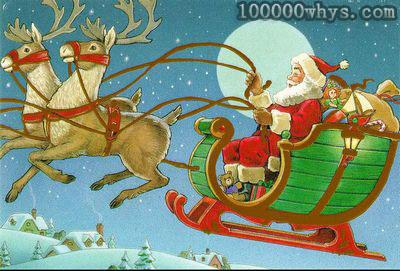 为什么圣诞老人用驯鹿拉礼物